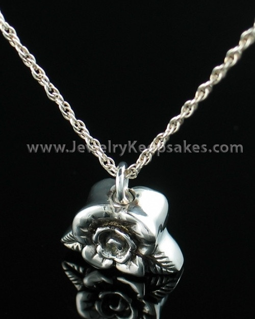 Funeral Jewelry Sterling Silver Rose Petal