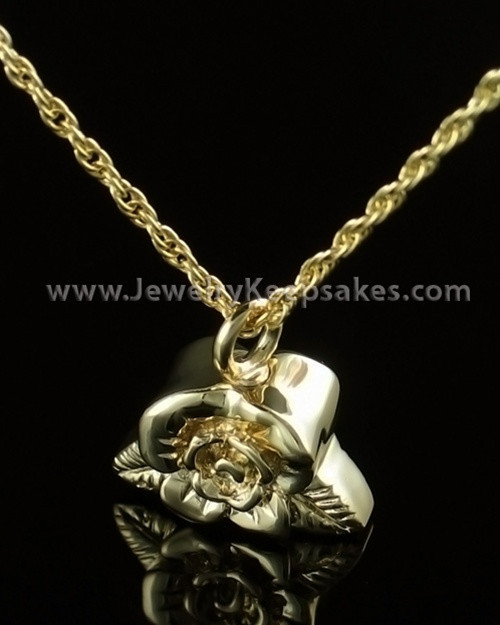 Funeral Jewelry Gold Plated Rose Petal