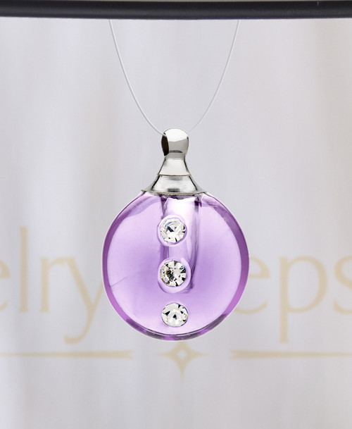 Violet Security Glass Reflection Pendant