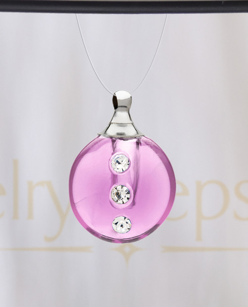 Pink Security Glass Reflection Pendant
