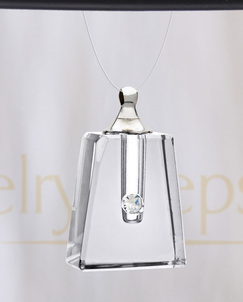 Clear Reverence Glass Reflection Pendant