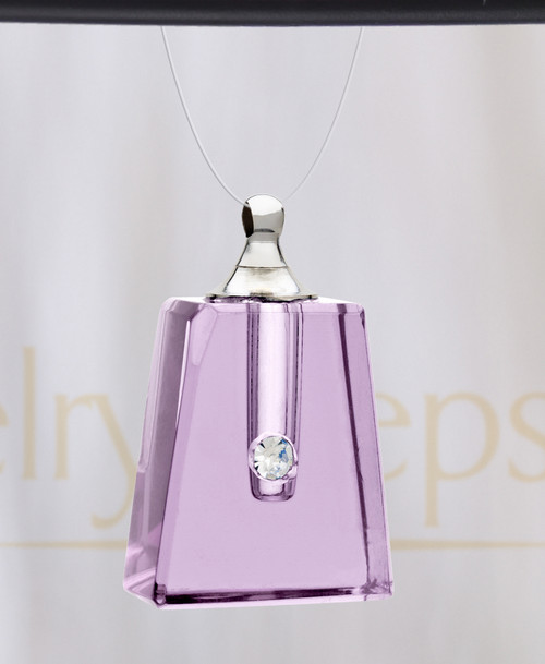 Lavender Reverence Glass Reflection Pendant