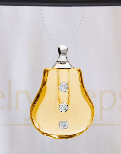 Yellow Sprinkle Glass Reflection Pendant