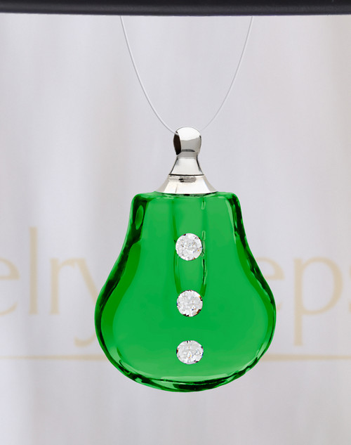 Green Sprinkle Glass Reflection Pendant