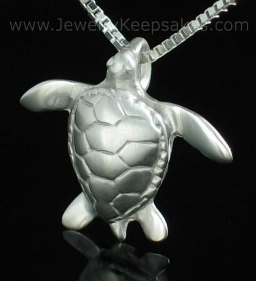 Memorial Keepsake Jewelry Sterling Silver Sea Turtle