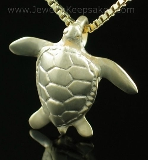 Memorial Keepsake Jewelry Gold Plated Sea Turtle