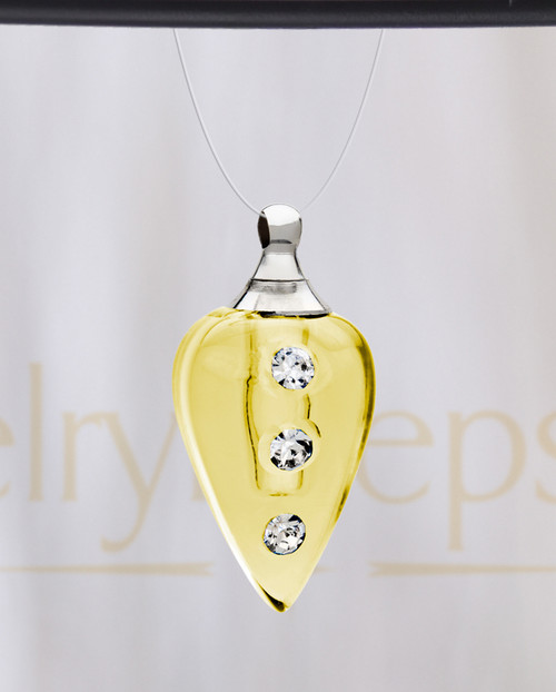 Golden Joyful Glass Reflection Pendant