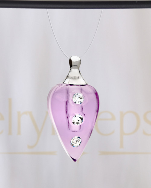 Violet Joyful Glass Reflection Pendant