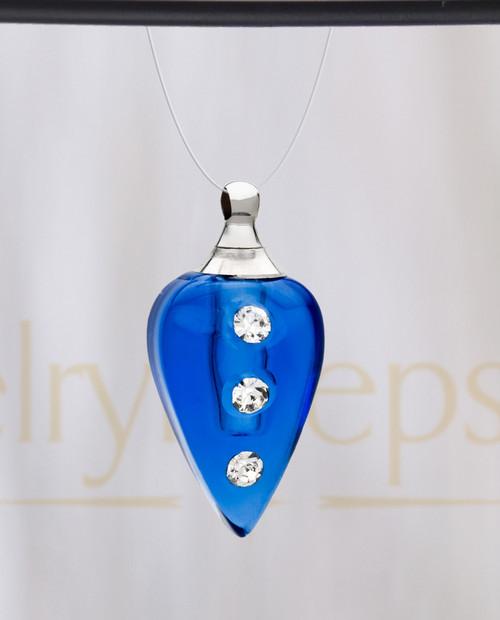 Blue Joyful Glass Reflection Pendant