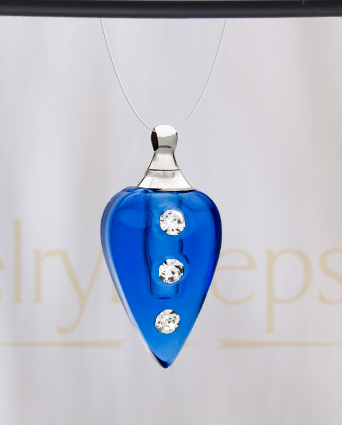 Blue Joyful Glass Reflection Pendant