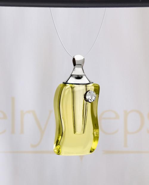 Golden Bliss Glass Reflection Pendant