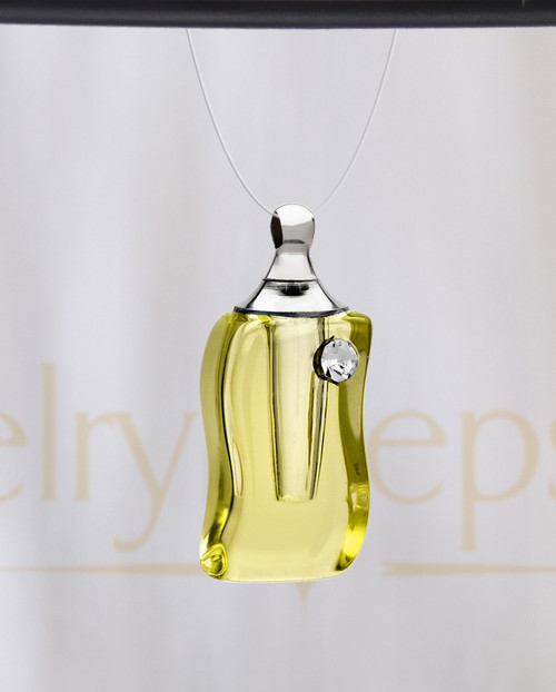 Golden Bliss Glass Reflection Pendant
