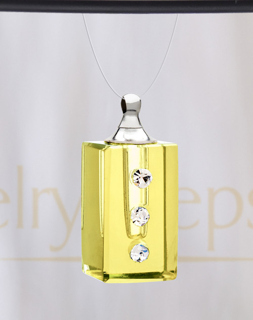 Yellow Dependable Glass Reflection Pendant