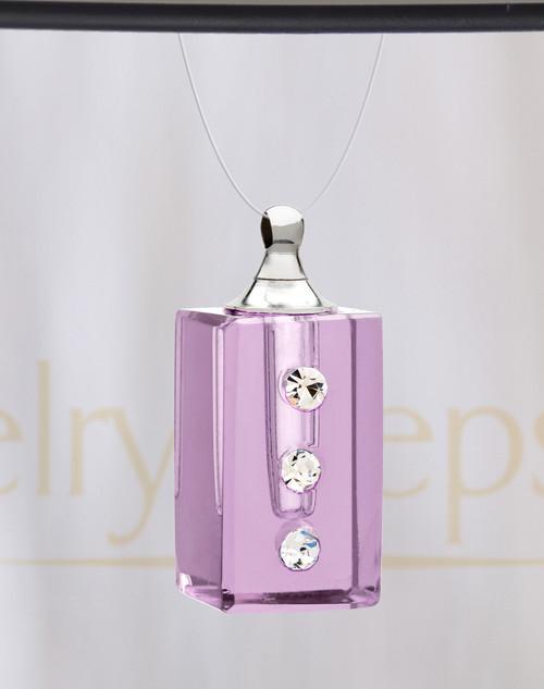 Violet Dependable Glass Reflection Pendant