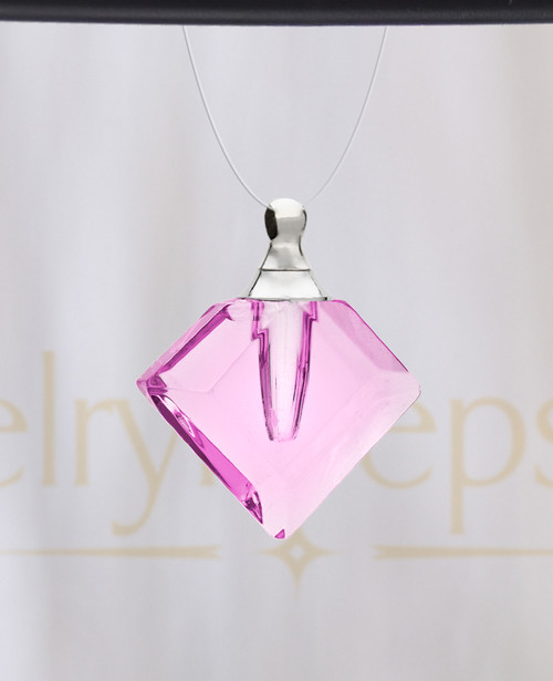 Pink Fascination Glass Reflection Pendant