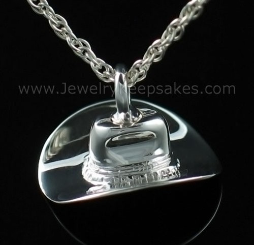Cremains Locket Sterling Silver Hat