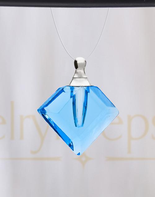 Indigo Fascination Glass Reflection Pendant
