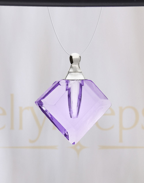 Lavender Fascination Glass Reflection Pendant