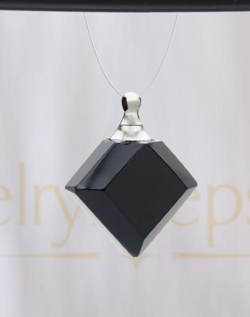 Nightfall Diamond Glass Reflection Pendant