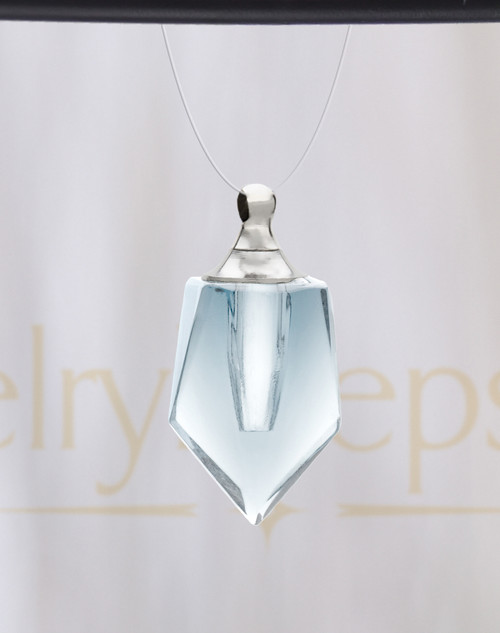 Clear Devoted Glass Reflection Pendant