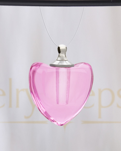 Pink Pristine Heart Glass Reflection Pendant