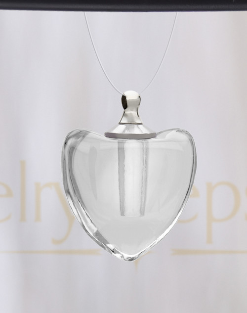 Pristine Heart Glass Reflection Pendant