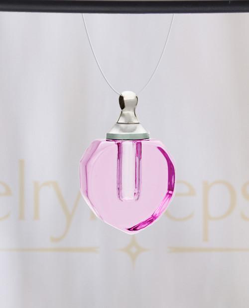 Pink Sheer Teardrop Glass Reflection Pendant