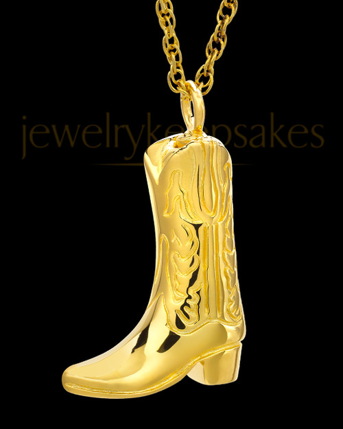 Remembrance Pendant Gold Plated Boot