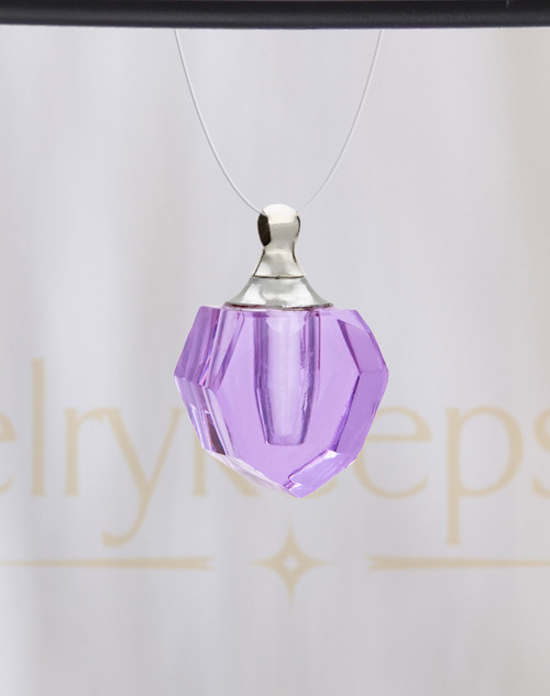 Violet Sheer Teardrop Glass Reflection Pendant