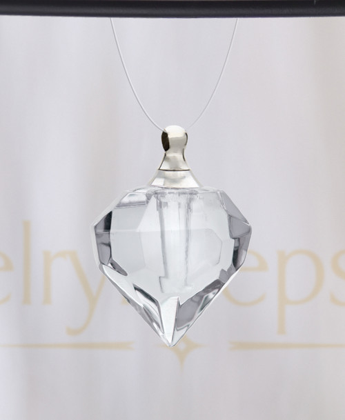Clear Teardrop Glass Reflection Pendant