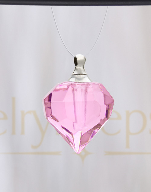 Pink Teardrop Glass Reflection Pendant