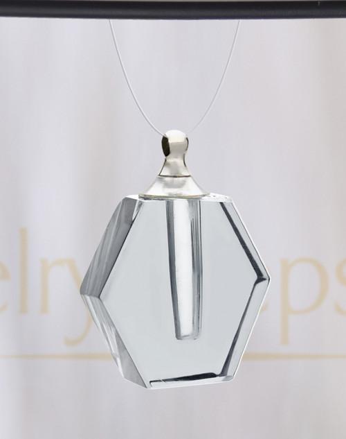 Clear Honesty Glass Reflection Pendant