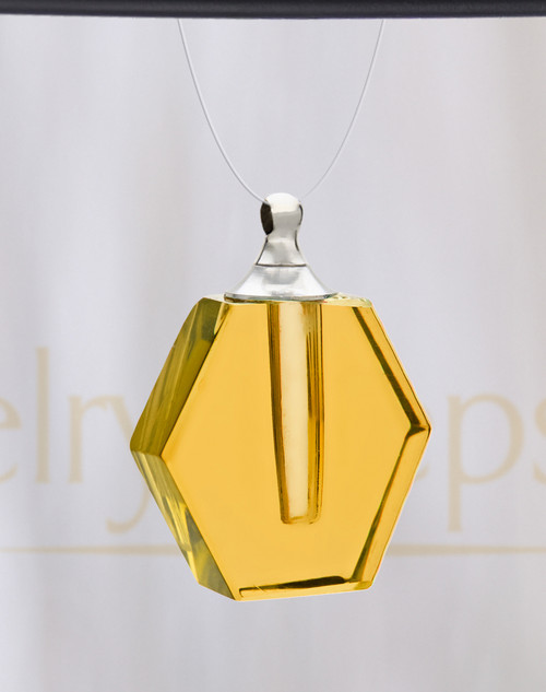 Yellow Honesty Glass Reflection Pendant
