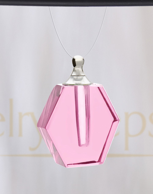Pink Honesty Glass Reflection Pendant