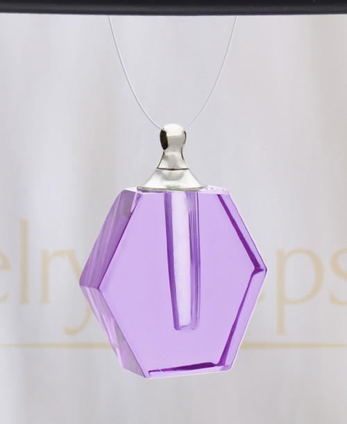 Violet Honesty Glass Reflection Pendant