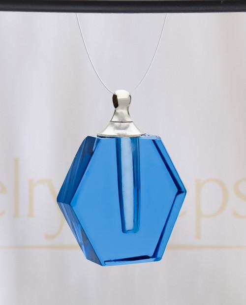Blue Honesty Glass Reflection Pendant