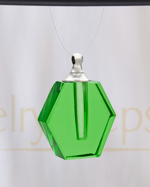Green Honesty Glass Reflection Pendant