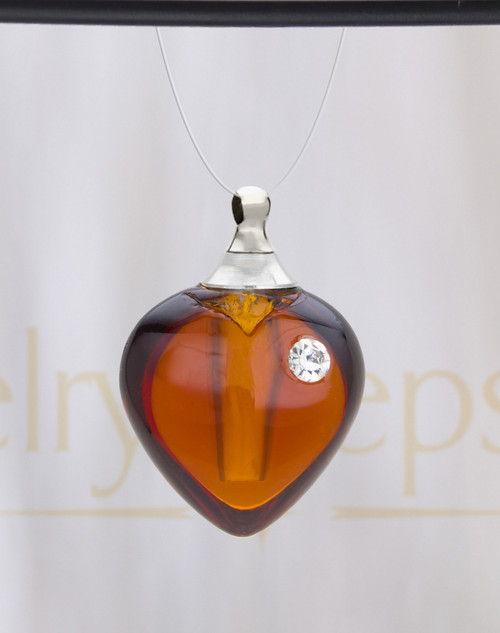 Sienna Heart Glass Reflection Pendant