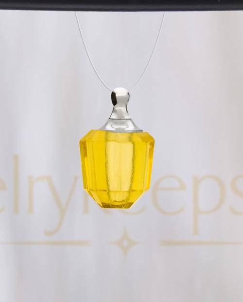 Yellow Amulet Glass Reflection Pendant