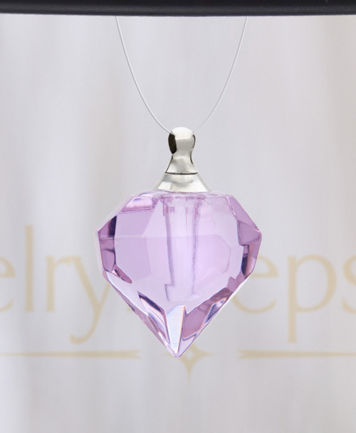 Violet Teardrop Glass Reflection Pendant
