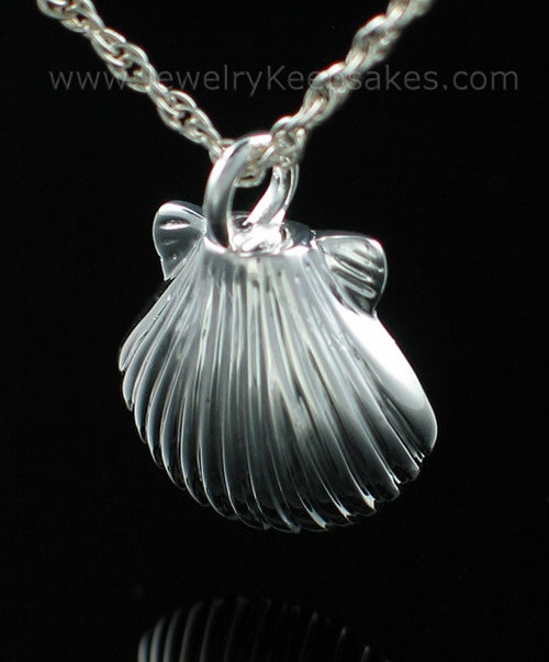 Necklace Urn Sterling Silver Sea Shell