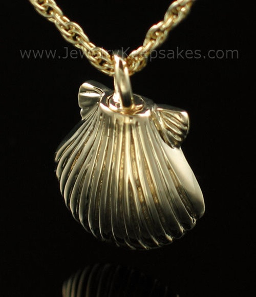 Necklace Urn Gold Plated Sea Shell