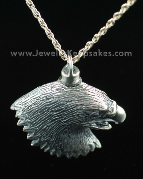 Cremation Locket Sterling Silver Eagle