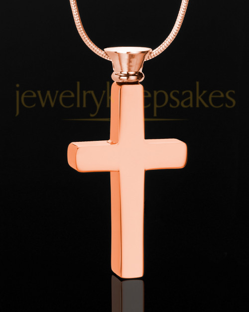 Rose Gold Plated Memorable Cross - Eternity Collection