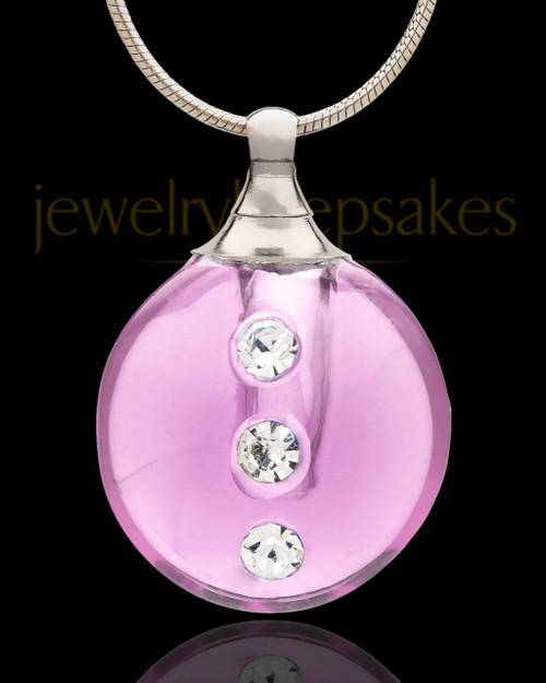 Urn Jewelry Rose Security Glass Locket