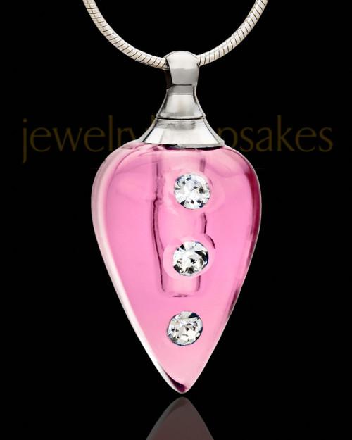 Keepsake Pendant Rose Joyful Glass Locket