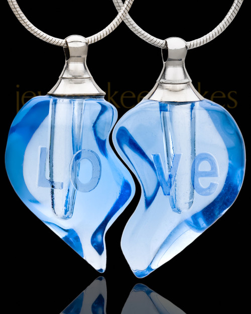 Tranquil Moments Double Hearts Glass Locket