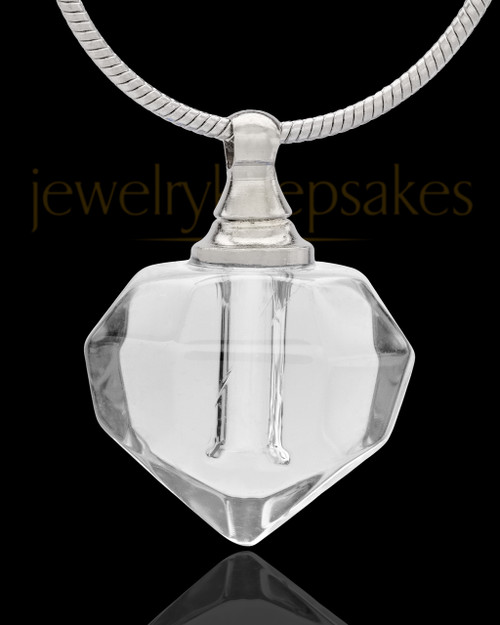 Urn Necklace Clear Tiny Tear Glass Locket