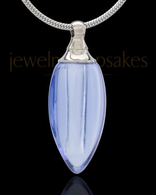Urn Necklace Blue Fallen Tear Glass Locket