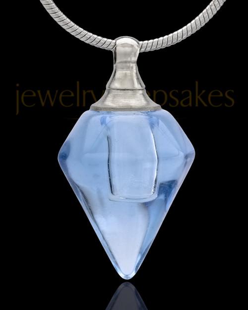 Urn Necklace Blue Spinner Glass Locket
